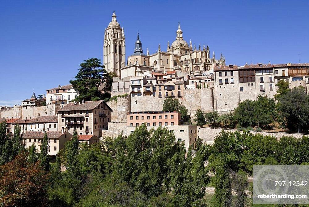 Spain, Castille-Leon, Segovia, The Cathedral.