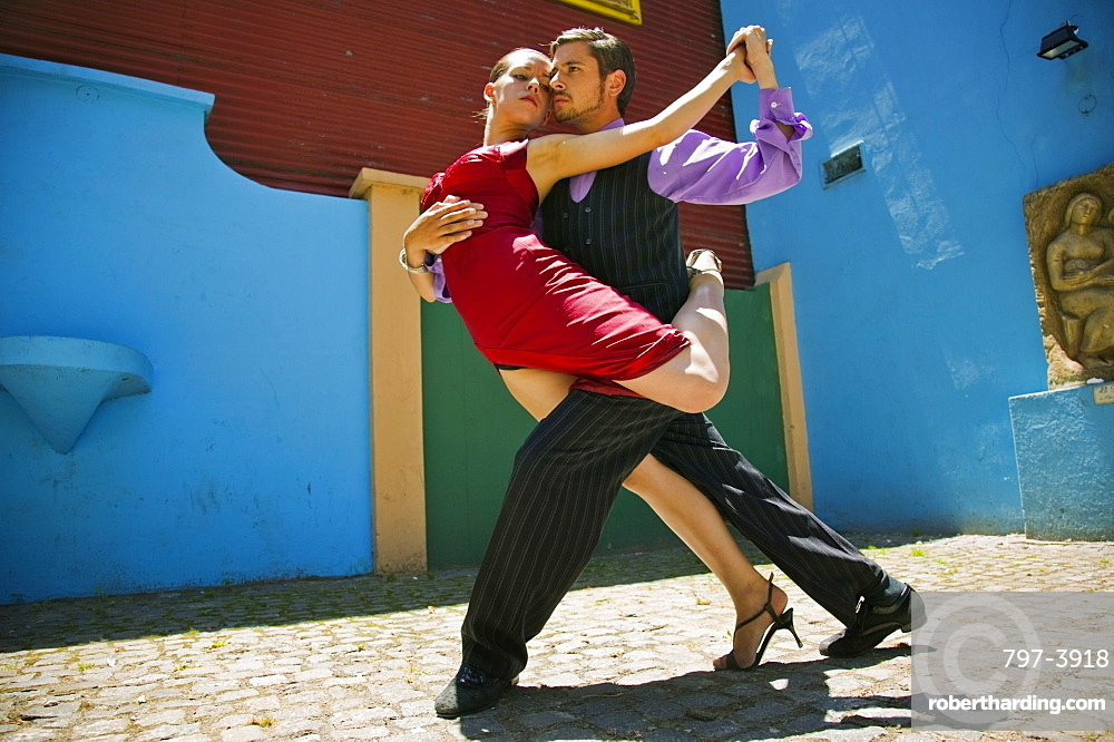 ARGENTINA  Buenos Aires Tango dancers in La Boca. Red Colour La Boca Holidays Tourism Travel Buenos Aires South America Architecture Tango Icon Pose Dance Two American Argentinian Color Hispanic Latin America Latino Performance 2