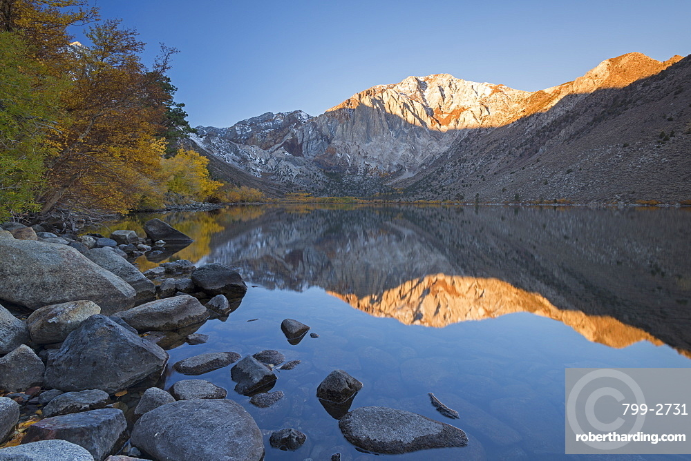 Fall colours around Convict Lake in the Eastern Sierra Mountains, California, United States of America, North America