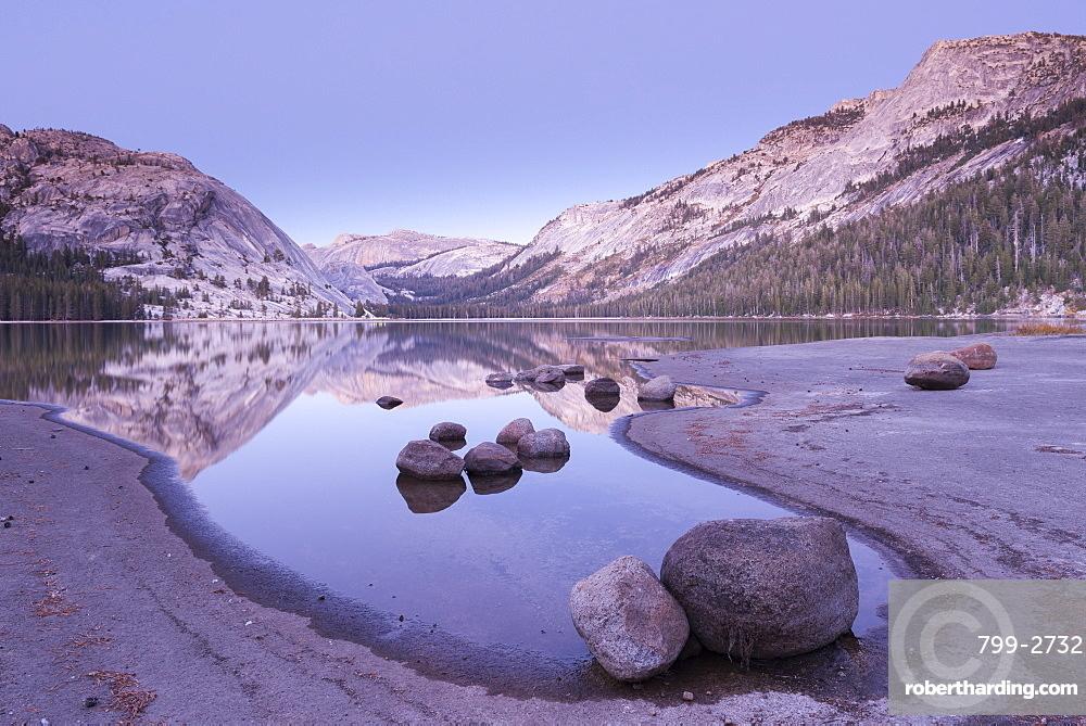 Twilight at Tioga Lake, Yosemite National Park, UNESCO World Heritage Site, California, United States of America, North America