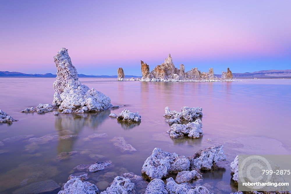 Tufa Towers on Mono Lake at sunset, California, United States of America, North America