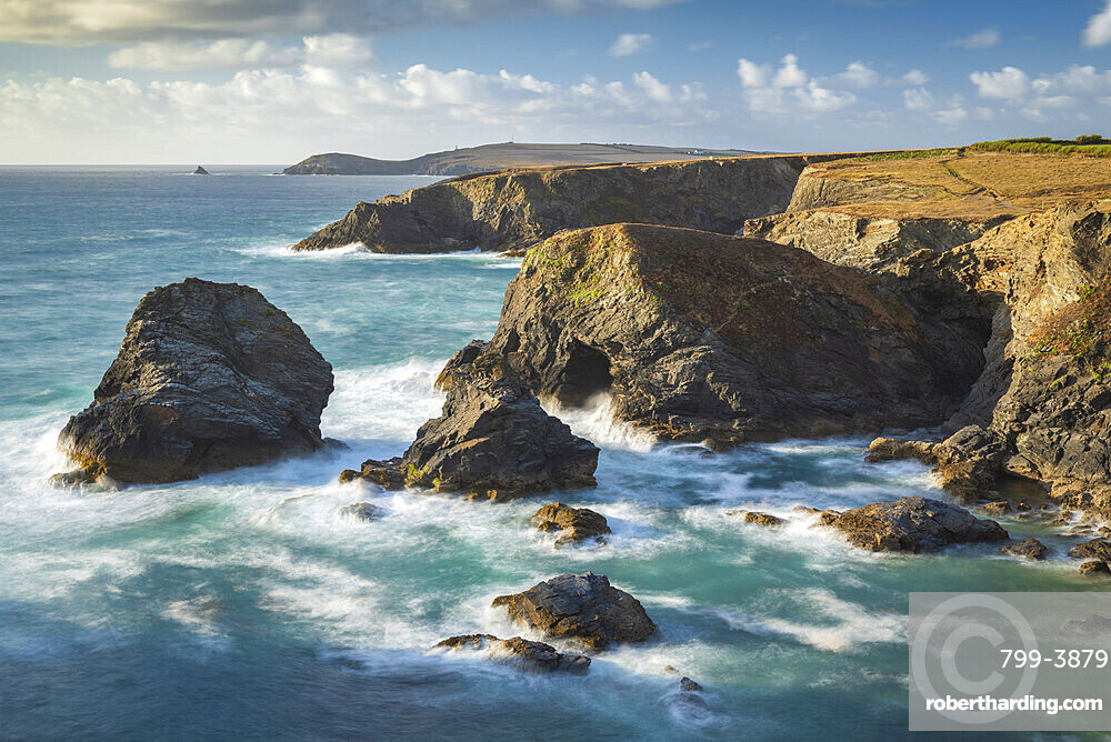 Dramatic coastal scenery near Trevose Head on the North Cornish coast, Cornwall, England, United Kingdom, Europe