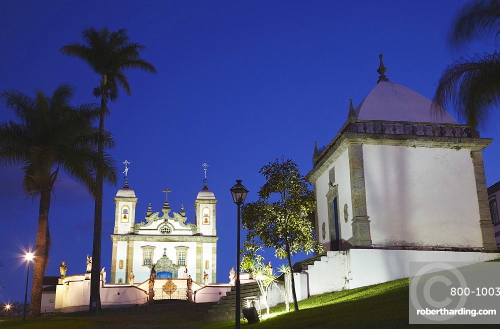 Sanctuary of Bom Jesus de Matosinhos and chapel, UNESCO World Heritage Site, Congonhas, Minas Gerais, Brazil, South America