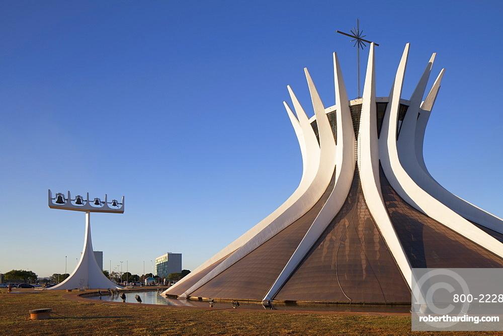 Metropolitan Cathedral, UNESCO World Heritage Site, Brasilia, Federal District, Brazil, South America