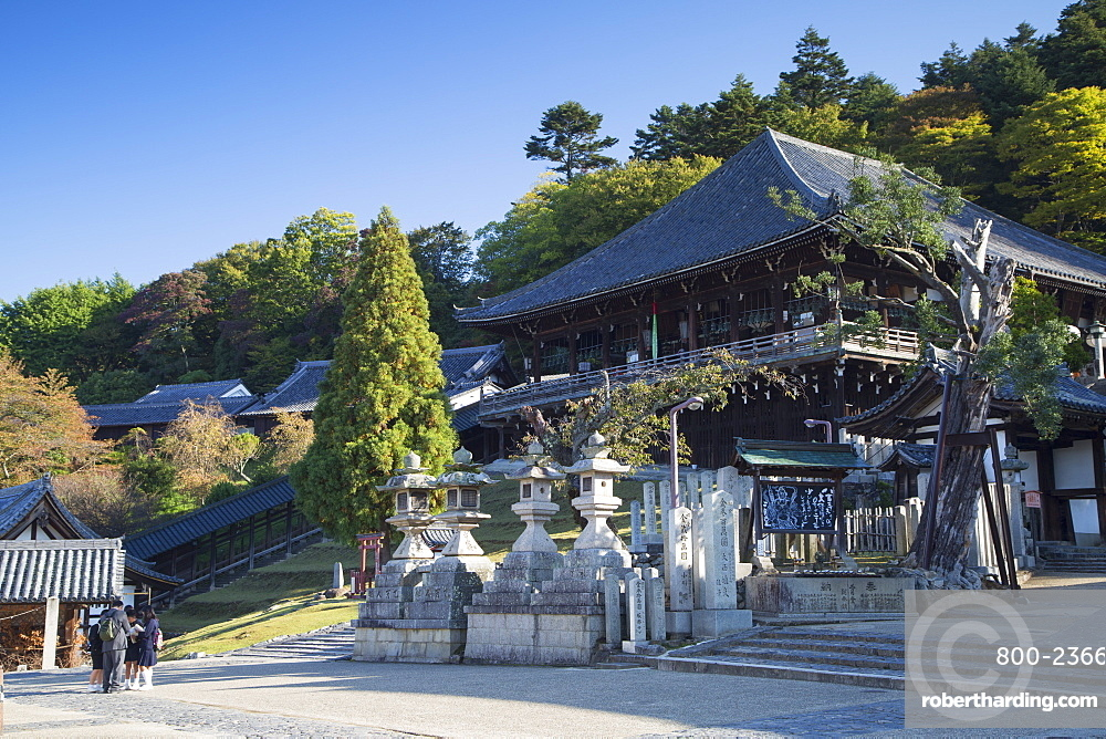 Nigatsudo Hall in Nara Park, Nara, Kansai, Japan, Asia