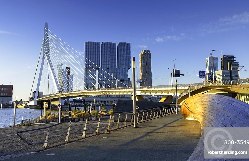 Erasmus Bridge (Erasmusbrug), Rotterdam, Zuid Holland, Netherlands, Europe