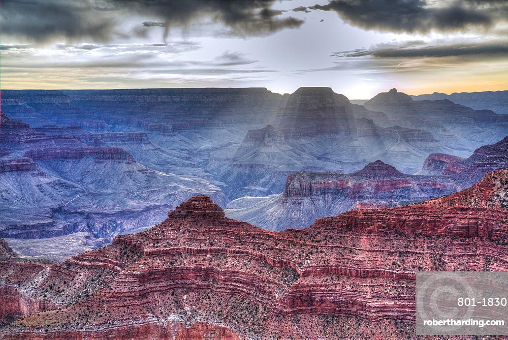 Sunrise at Mather Point, South Rim, Grand Canyon National Park, UNESCO World Heritage Site, Arizona, United States of America, North America