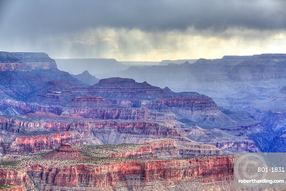 Afternoon thunderstorm, South Rim, Grand Canyon National Park, UNESCO World Heritage Site, Arizona, United States of America, North America