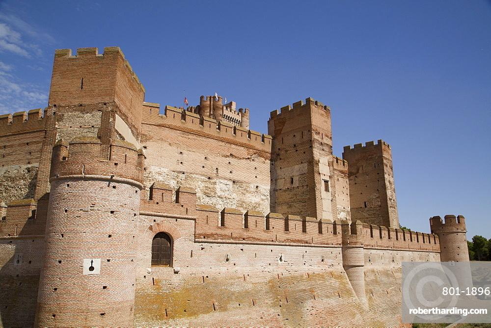 Castle of La Mota, built 12th century, Medina del Campo, Valladolid, Castile y Leon, Spain, Europe
