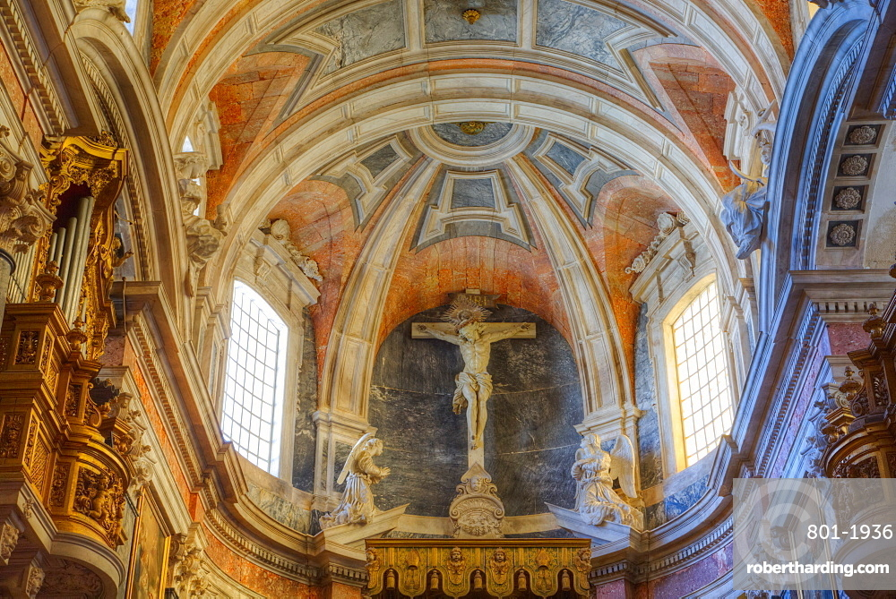 Main Chapel with ceiling, Evora Cathedral, Evora, UNESCO World Heritage Site, Portugal, Europe