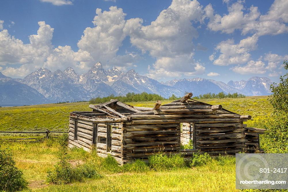 Shane Cabin, Homestead, near Kelly, Grand Teton National Park, Wyoming, United States of America, North America