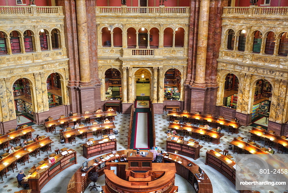 Main Reading Room, Library of Congress, Washington D.C., United States of America, North America