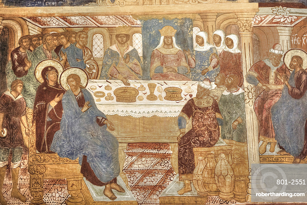 Frescoes, Transfiguration Cathedral, Monastery of St. Euthymius, UNESCO World Heritage Site, Suzdal, Vladimir Oblast, Russia, Europe