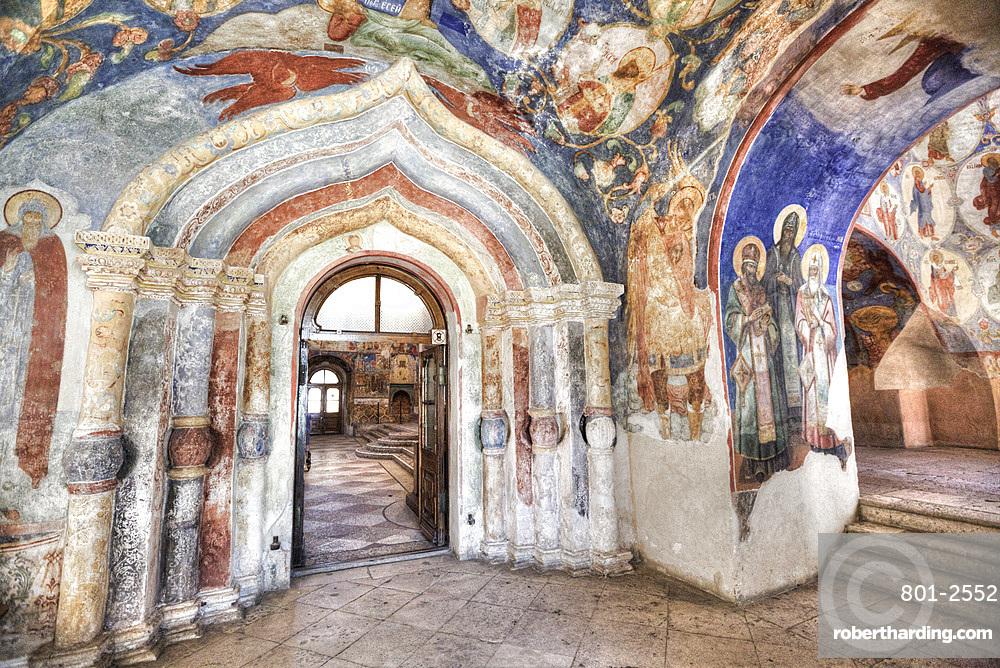 Frescoes, Transfiguration Cathedral, Monastery of St. Euthymius, UNESCO World Heritage Site, Suzdal, Vladimir Oblast, Russia, Europe