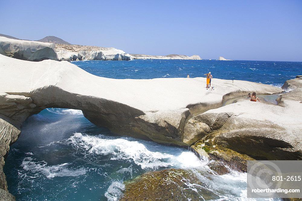 Sarakiniko Beach, Milos Island, Cyclades Group, Greek Islands, Greece, Europe