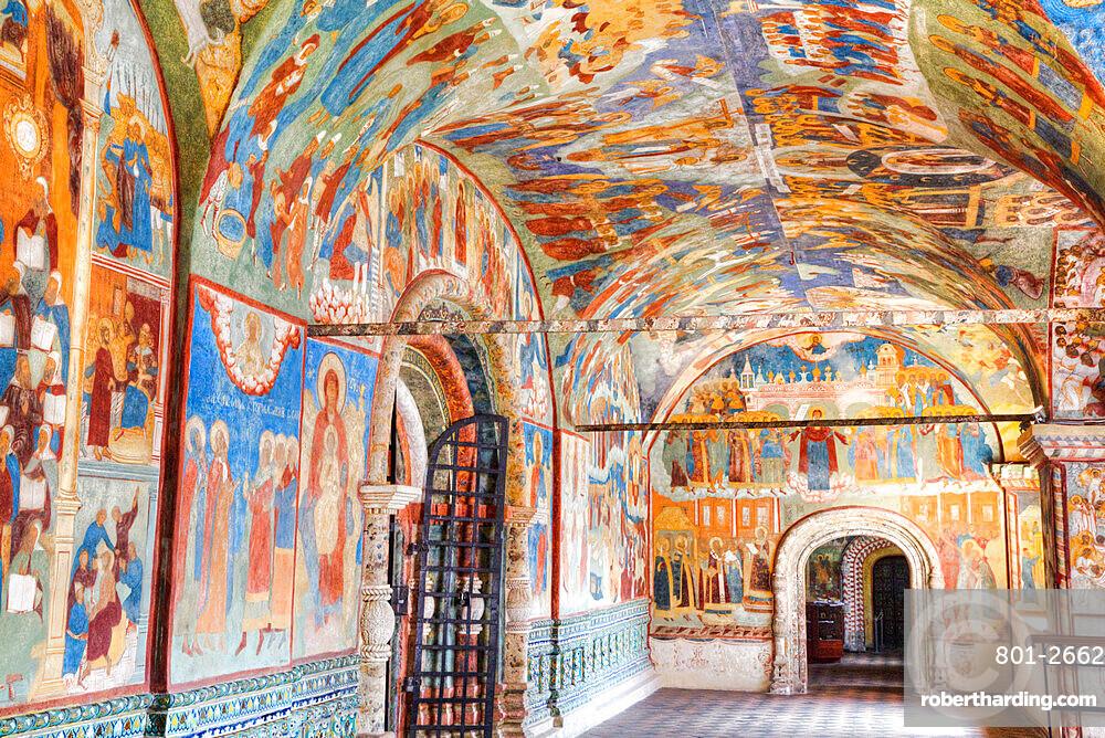 Frescoes, Elijah the Prophet Church, UNESCO World Heritage Site, Yaroslavl, Yaroslavl Oblast, Russia