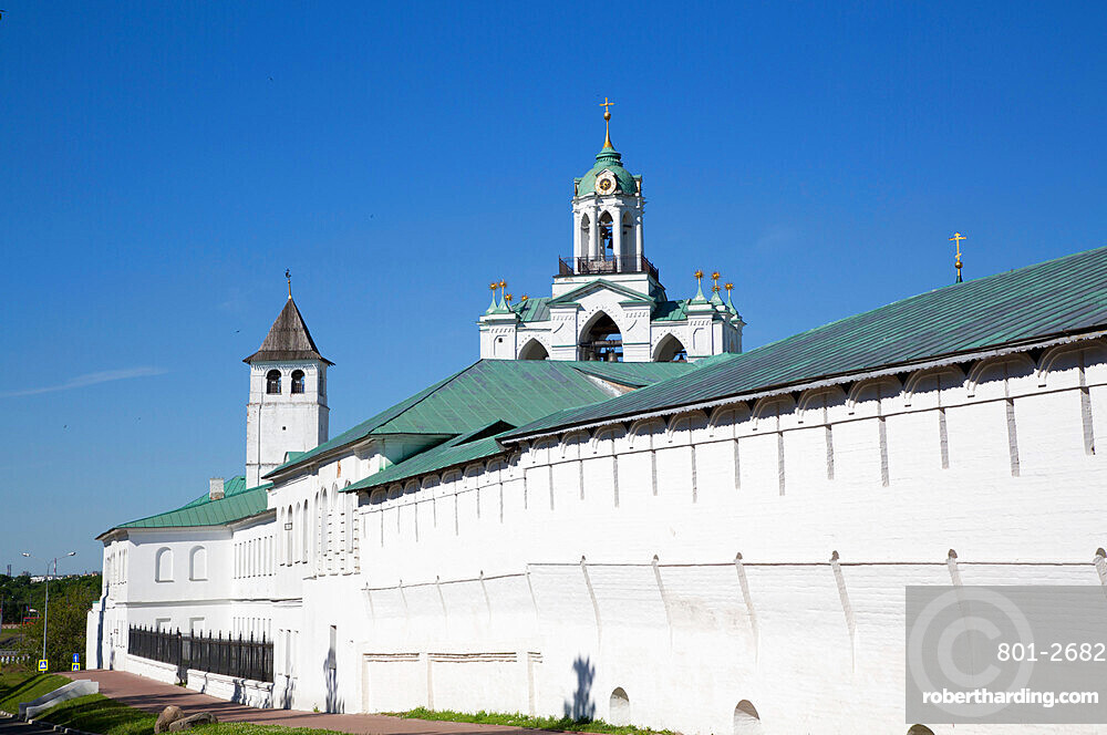 Outer Walls, Spassky Monastery, UNESCO World Heritage Site, Yaroslavl, Golden Ring, Yaroslavl Oblast, Russia