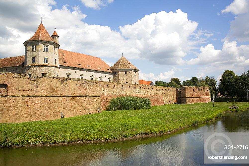Fagaras Citadel, 14th Century, Fagaras, Brasov County, Transylvania Region, Romania