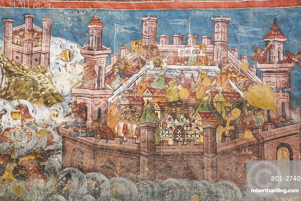 External Frescoes, Moldovita Monastery, 1532, UNESCO World Heritage Site, Vatra Moldovitei, Suceava County, Romania
