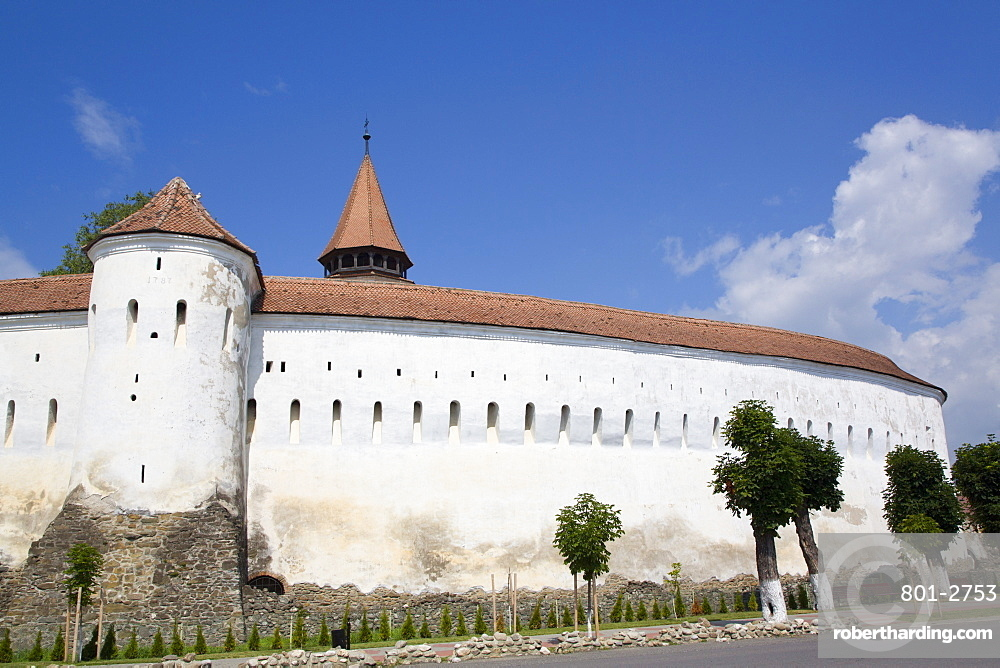 Outer Wall, Prejmer Fortified Church,1212, UNESCO World Heritage Site, Prejmer, Brasov County, Romania