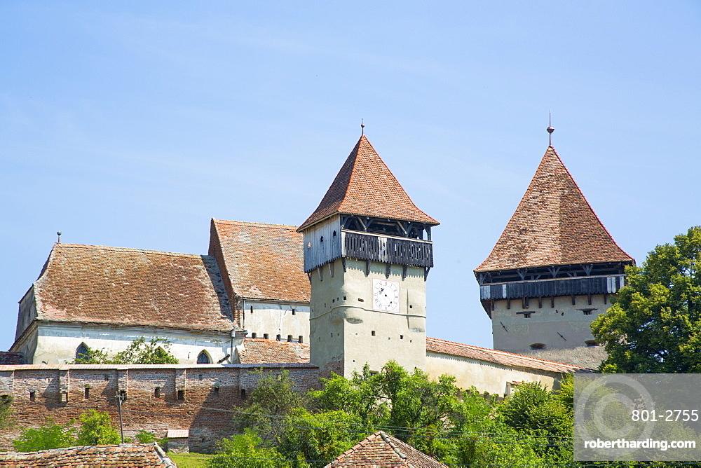Alma Vii Fortified Church, 14th century, Alma Vii, Sibiu County, Romania, Europe