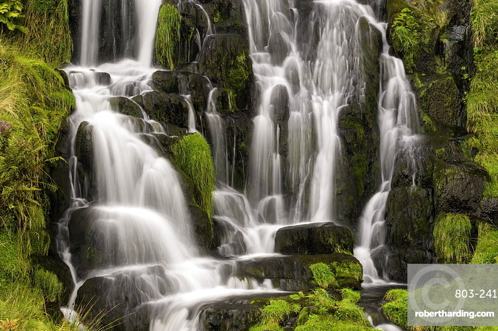 Waterfall near the Old Man of Storr on the Isle of Skye, Inner Hebrides, Scotland, United Kingdom, Europe