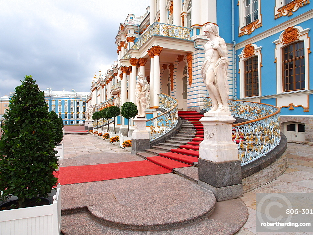 West end, Catherine Palace, Tsarskoye Selo (Pushkin), near St. Petersburg, Russia, Europe