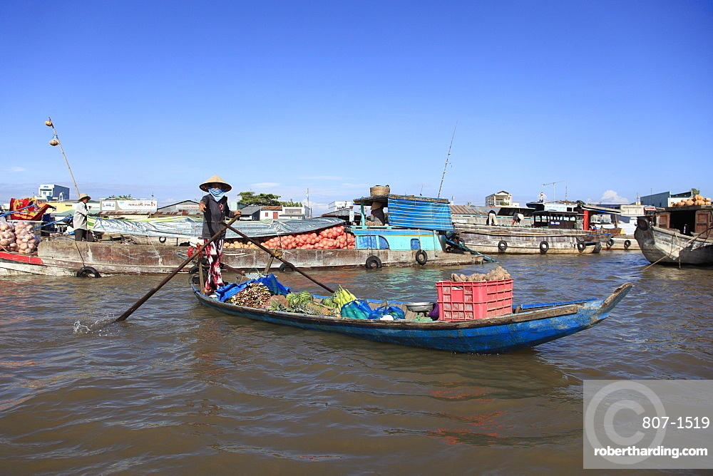 Cai Rang Floating Market, Mekong Delta, Can Tho Province, Vietnam, Indochina, Southeast Asia, Asia