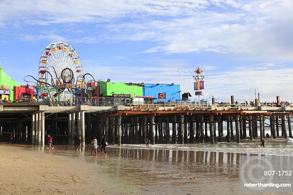 Santa Monica Pier, Pacific Park, Santa Monica, Los Angeles, California, United States of America, North America
