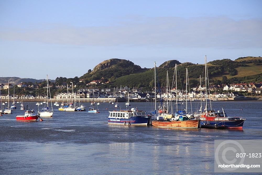 Conwy Bay, River Estuary, Harbor, Conwy, North Wales, Wales, United Kingdom, Europe