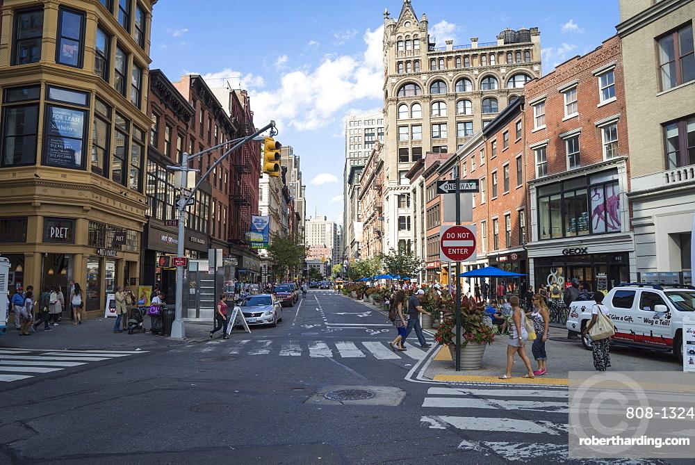 Street scene in Chelsea, Manhattan, New York City, New York, United States of America, North America