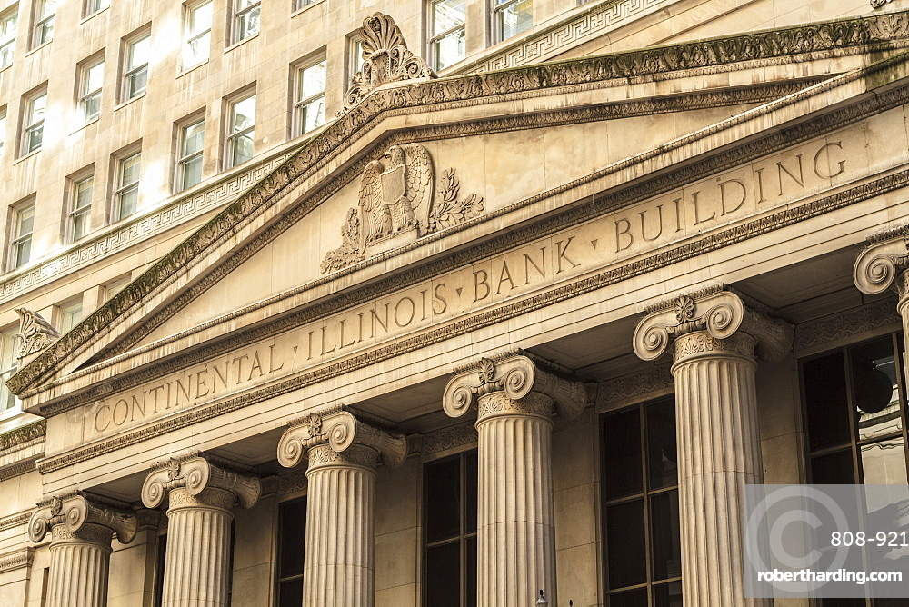 Classical architecture in the financial district, Chicago, Illinois, United States of America, North America