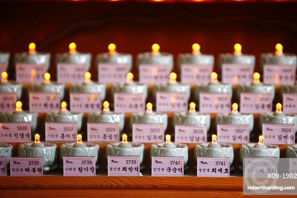 Funeral candles, Seoul, South Korea, Asia