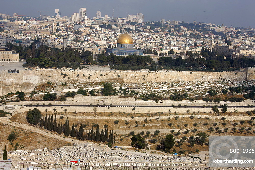 City skyline, Jerusalem, Israel, Middle East