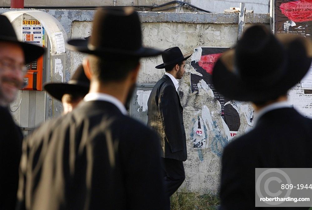 Orthodox Jews in Bnei Brak, Israel, Middle East