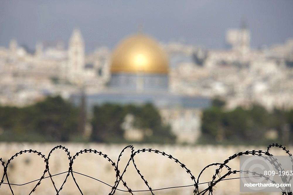 City seen from Dominus Flevit, Jerusalem, Israel, Middle East