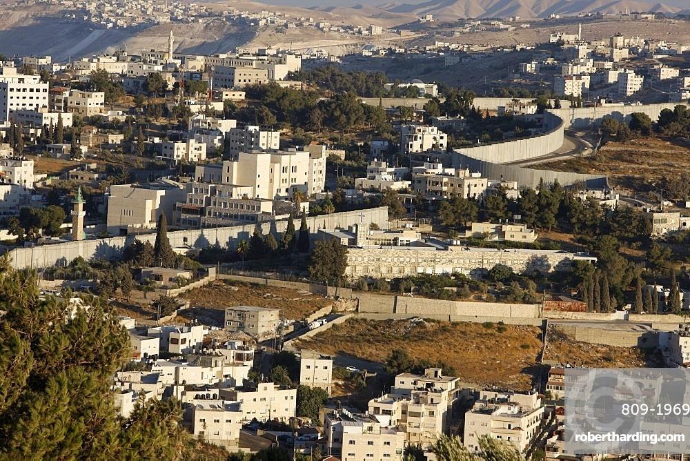 Security wall in Abu Dis (East Jerusalem), Jerusalem, Israel, Middle East