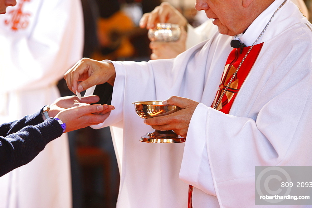Communion during Mass, World Youth Day, Sydney, New South Wales, Australia, Pacific