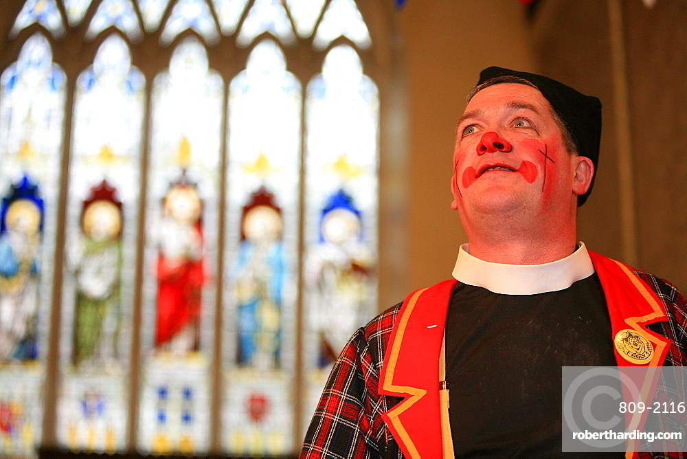 Annual Grimaldi clown service in London, England, United Kingdom, Europe