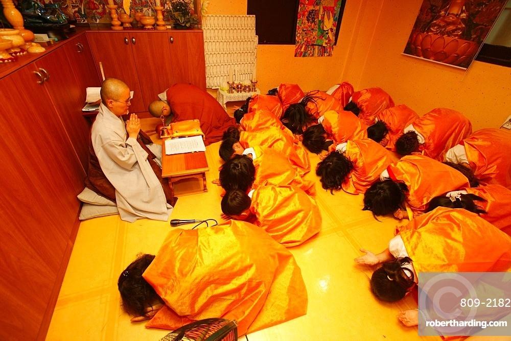 Buddhist ceremony for children, Seoul, South Korea, Asia