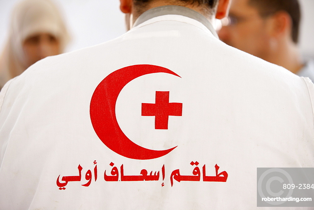 Palestinian Medical Relief Society physician, Souk Ba, Palestine National Authority, Middle East