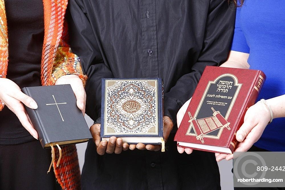Bible, Koran and Torah, Paris, France, Europe