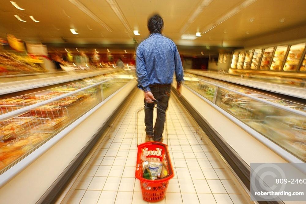 Supermarket, Levallois Perret, Ile de France, France, Europe