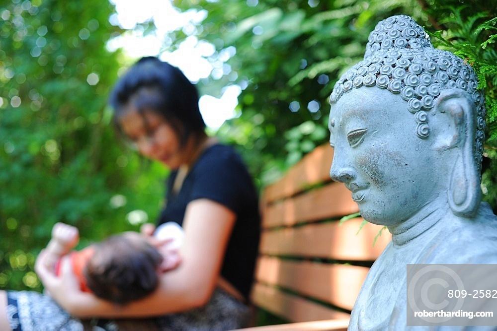 Buddhist mother, Paris, France, Europe