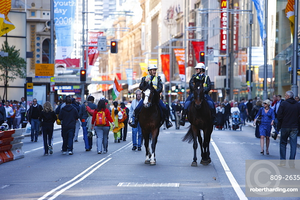Mounted police, Sydney, New South Wales, Australia, Pacific