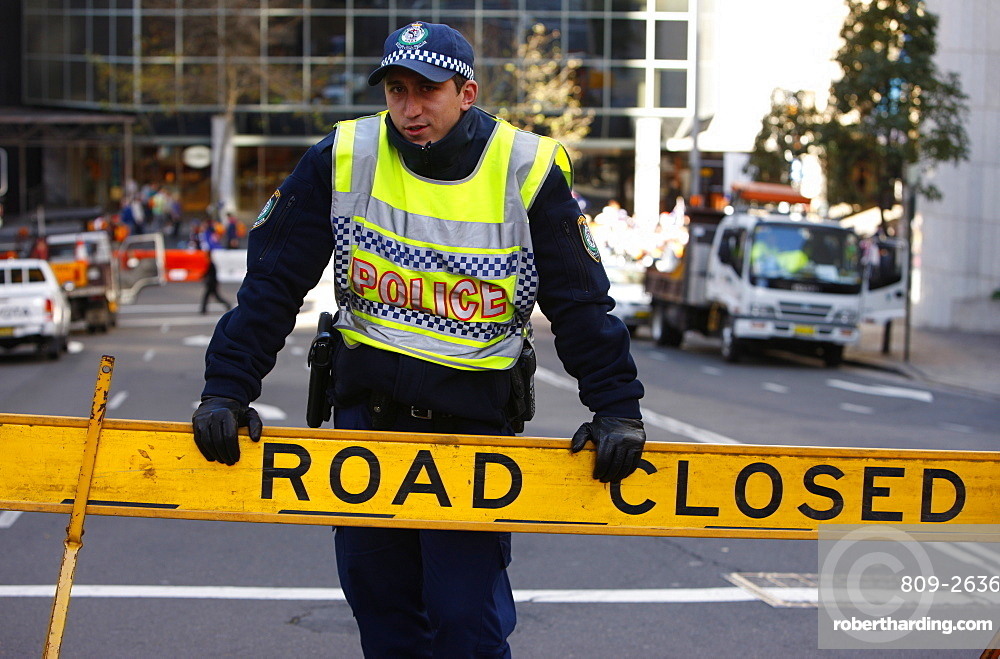 Road closed, Sydney, New South Wales, Australia, Pacific