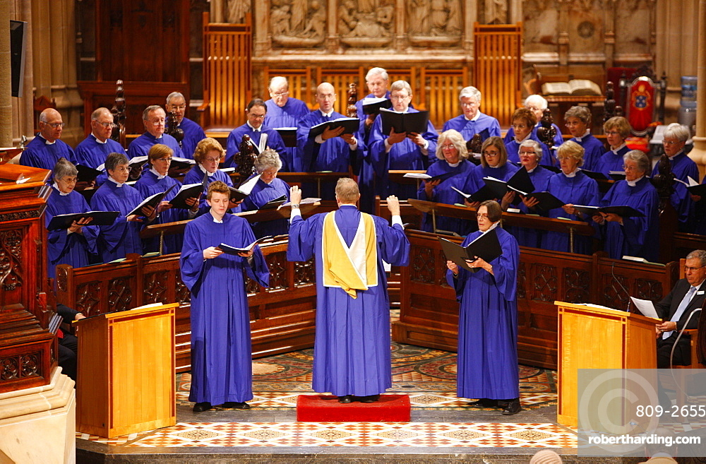 St. Andrew's cathedral choir, Sydney, New South Wales, Australia, Pacific