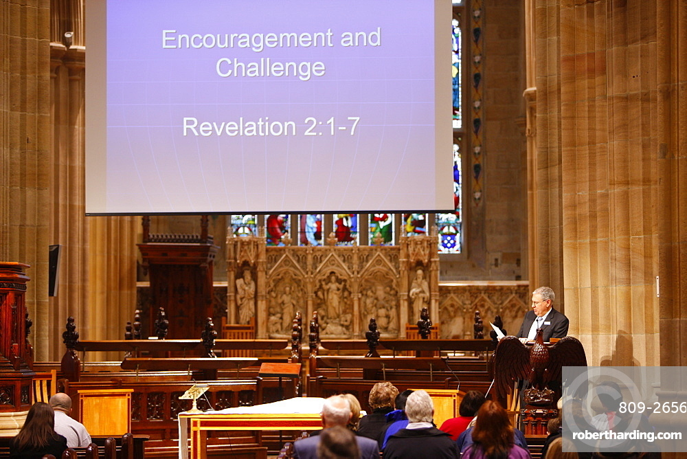 Morning service, St. Andrew's cathedral, Sydney, New South Wales, Australia, Pacific