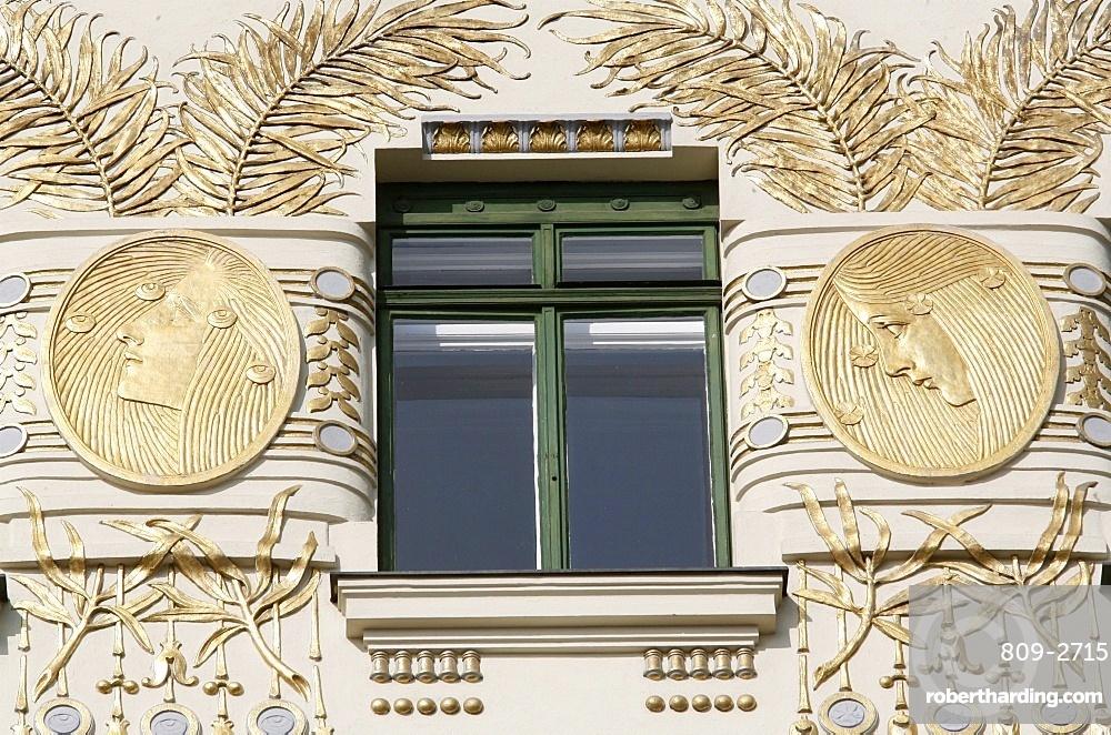 Apartment Building on Linke Wienzeile by Otto Wagner, Vienna, Austria, Europe