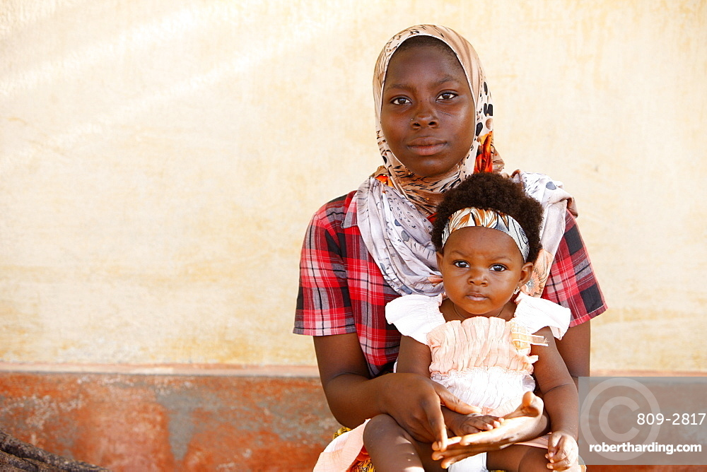 Muslim mother and child, Lome, | Stock Photo